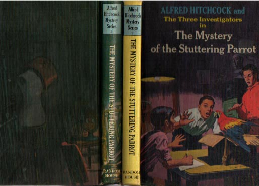 At left is the 1st HB Printing with the wrap-around cover art.
